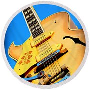 Sun Studio Guitar Round Beach Towel