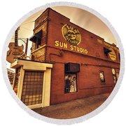 Sun Studios Memphis  Round Beach Towel