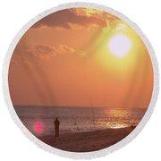 Sun Surf And Sea Round Beach Towel