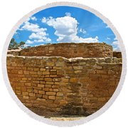 Sun Temple-1250 Ad In Mesa Verde National Park-colorado Round Beach Towel