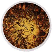 Sun - The Star Sign Of Lion Round Beach Towel