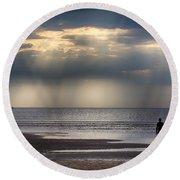 Sun Through The Clouds 2 Round Beach Towel