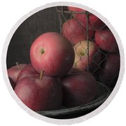 Sun Warmed Apples Still Life Square Round Beach Towel