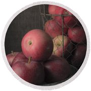Sun Warmed Apples Still Life Standard Sizes Round Beach Towel