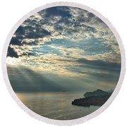 Sunbeams On Dubrovnik Round Beach Towel