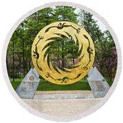 Sunbird Sculpture, Chengdu, China Round Beach Towel