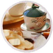 Sunday Morning Jelly Jar Round Beach Towel