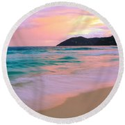 Sunday Morning Round Beach Towel