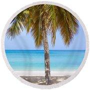 Sunday Palm Round Beach Towel