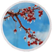 Sunday With Cherries On Top Round Beach Towel