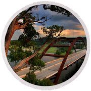 Sundown On Pennybacker 360 Round Beach Towel