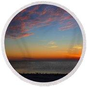 Sundown Round Beach Towel