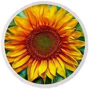 Sunflower - Paint Edition Round Beach Towel