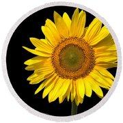 Sunflower 2 Round Beach Towel