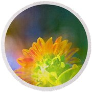 Sunflower 27 Round Beach Towel
