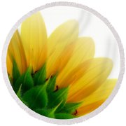 Sunflower Backside Round Beach Towel