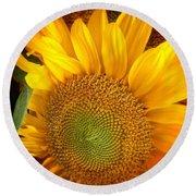 Sunflower Bright Round Beach Towel