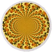 Sunflower Dance Round Beach Towel