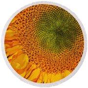Sunflower Digital Painting Round Beach Towel