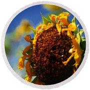 Sunflower Four Round Beach Towel