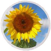 Sunflower Nirvana 30 Round Beach Towel