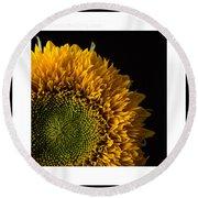 Sunflower Original Signed Mini Round Beach Towel