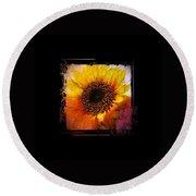 Sunflower Sunset - Art Nouveau  Round Beach Towel