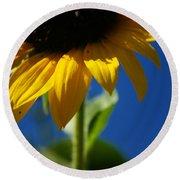 Sunflower Three Round Beach Towel