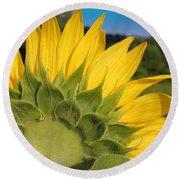 Sunflower1253 Round Beach Towel
