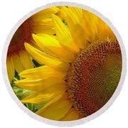 Sunflowers #1 Round Beach Towel