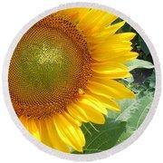 Sunflowers #2 Round Beach Towel