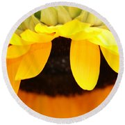 Sunflowers 3 Round Beach Towel