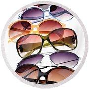 Sunglasses Round Beach Towel