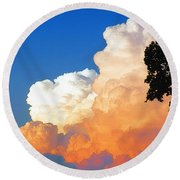 Sunkissed Storm Cloud Round Beach Towel