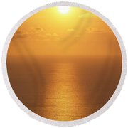 Sunlight Round Beach Towel