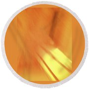 Sunny Abstract Digital Art Round Beach Towel