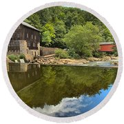 Sunny Days At Mcconnells Mill Round Beach Towel