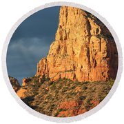 Sunny Side Of Sedona Round Beach Towel