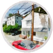 Sunny Side Of The Street Round Beach Towel