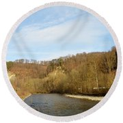 Sunny Valley Round Beach Towel
