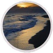 Sunrays Over The Sea Round Beach Towel