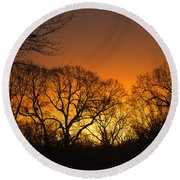 Sunrise - Another Perspective Round Beach Towel