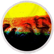 Sunrise Above The Trees Round Beach Towel