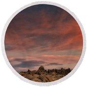 Sunrise Alabama Hills Near Lone Pine Ca Mg 0619 Round Beach Towel