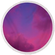 Sunrise And Moon Round Beach Towel