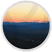 Sunrise And River Round Beach Towel