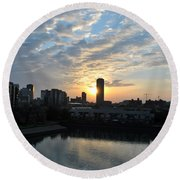 Sunrise Arise Buffalo Ny V2 Round Beach Towel