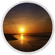 Sunrise At Atlantic City Round Beach Towel