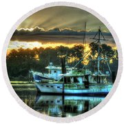 Sunrise At Billy's Round Beach Towel