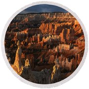 Sunrise At Bryce Canyon Round Beach Towel